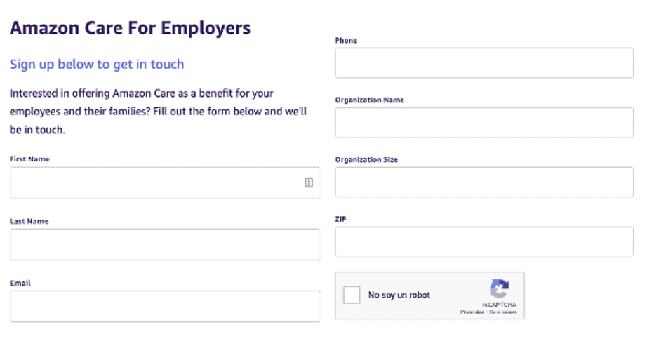 Form for employers who want to enroll their business